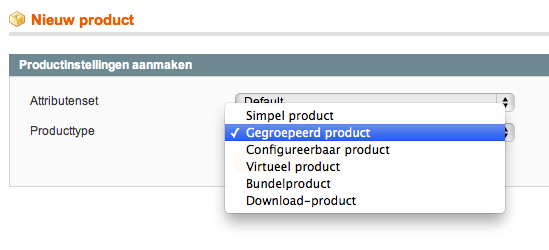 Grouped products Magento