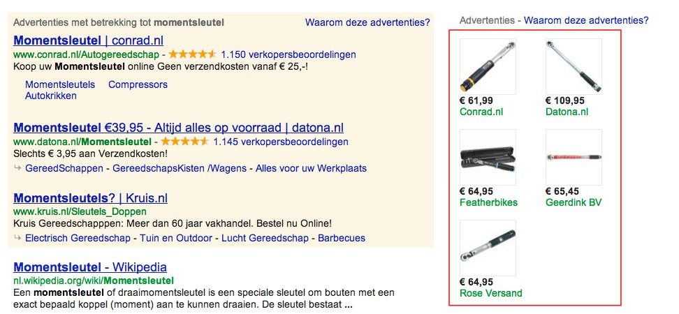 momentsleutel - Google product search