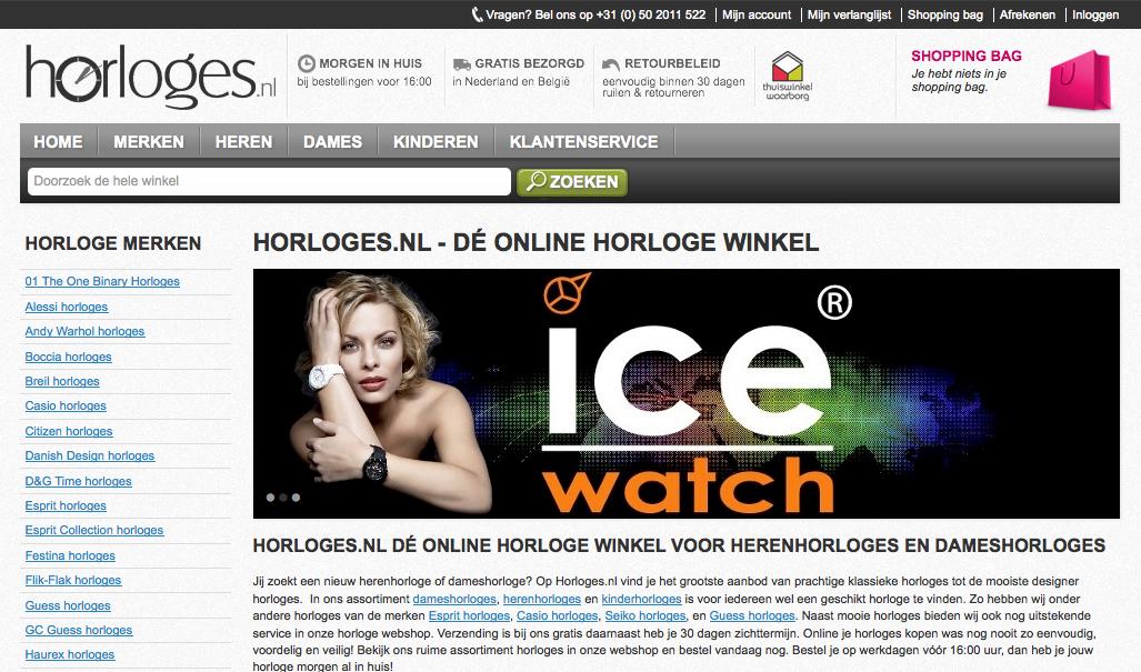 Horloges.nl - Magento webshop