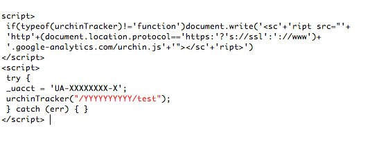 Google Analytics code Urchin