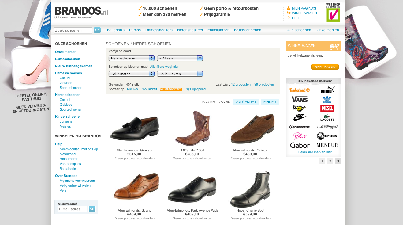 Webshop Brandos