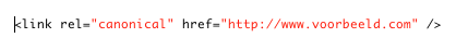 Canonical tag html