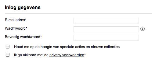 Nieuwsbrief aanvragen webshop