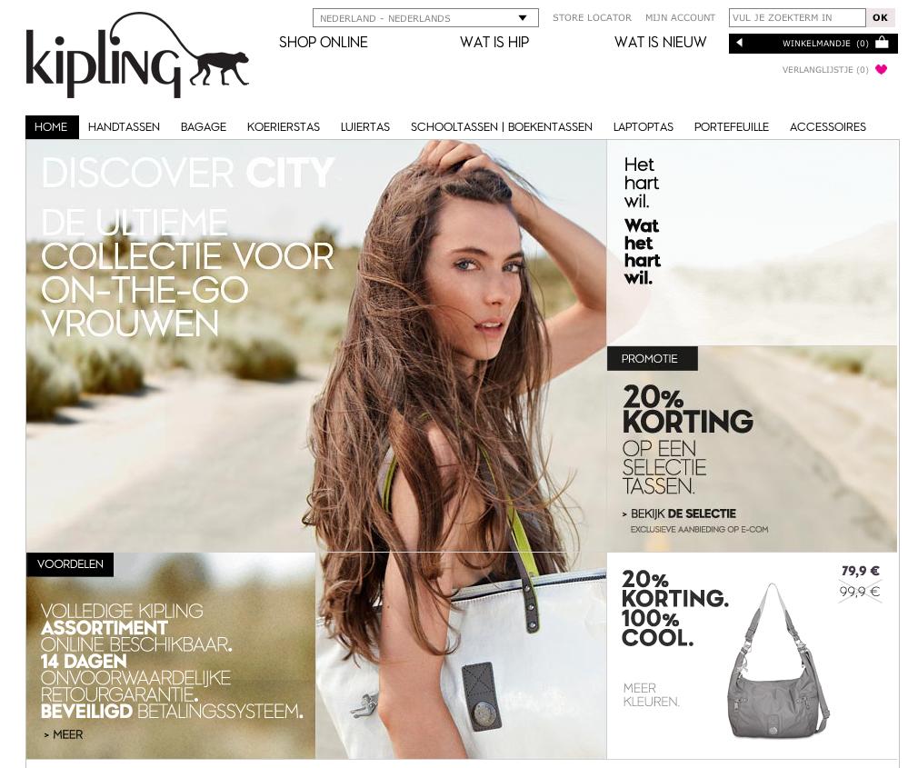 Kipling webshop