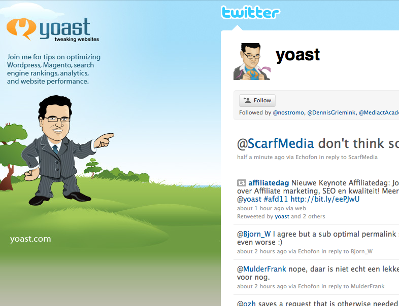 Yoast Twitter pagina