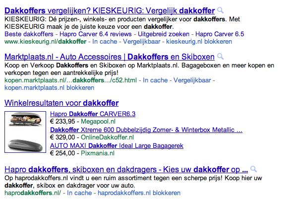 Google Shopping bezoekers meten