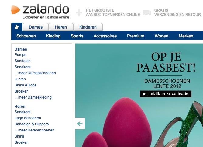 Webshop Zalando