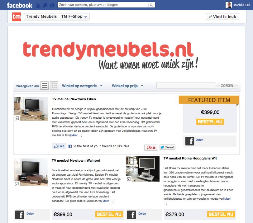 Webwinkel Facebook