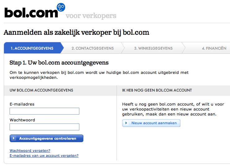 Zakelijk account Bol.com