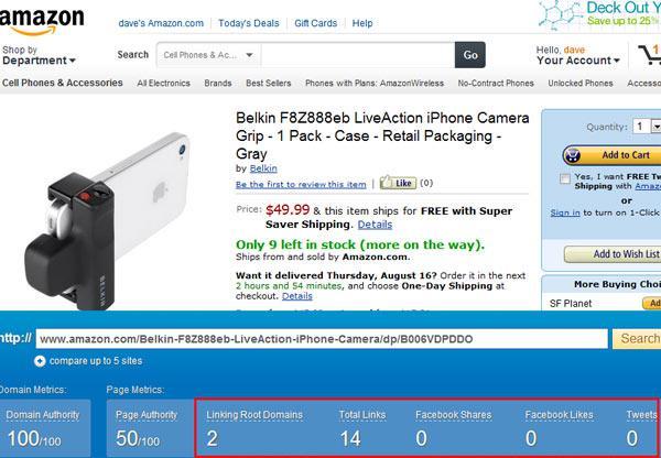 amazon-productpagina